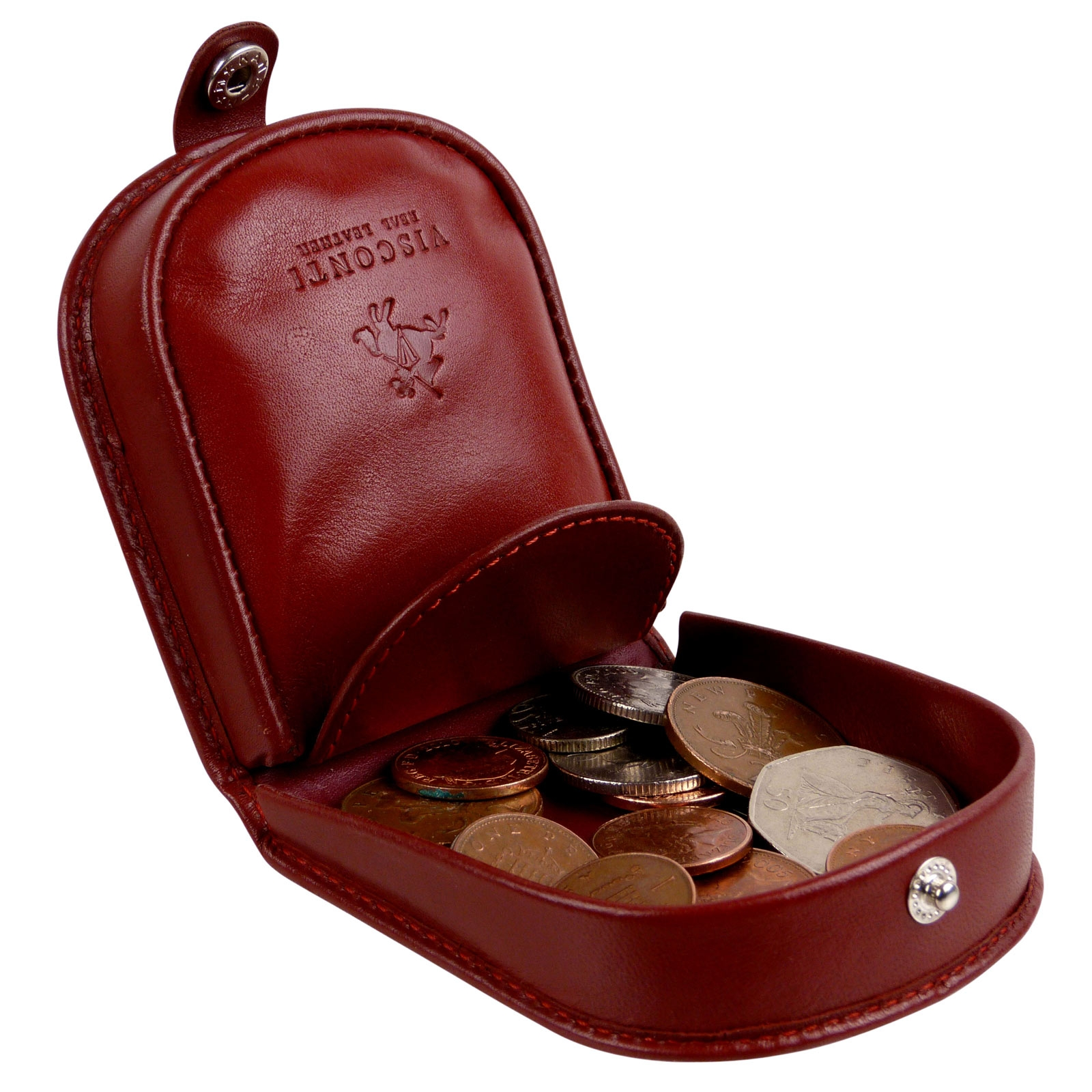 thumbnail 5 - Mens-Classic-Leather-Tabbed-Coin-Tray-by-Visconti-Monza-Collection-Gift-Boxed