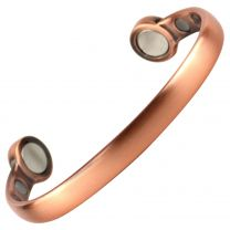 Elegant Super Strong MAGNETIC Bracelet/Bangle Antique Copper DESIGN 6 Magnets Health Rare Earth NdFeB