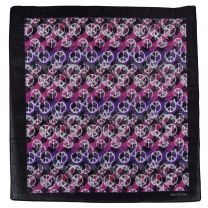 Pink/Lilac Peace Symbol Bandana Headwear Scarf Mouthcovering