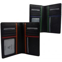 Mens Leather Slim Suit Wallet by Visconti; Bond Collection Gift Box Stylish