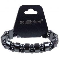 Equilibrium Bar & Ball Quality  Mens Ladies Stretchy Expandable Hematite Bracelet