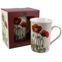 Poppy Poppies Illustration China Mug Gift Boxed Bug Art