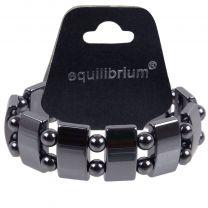 Quality Mens Ladies Equilibrium Large Bar & Ball Stretchy Expandable Hematite Bracelet