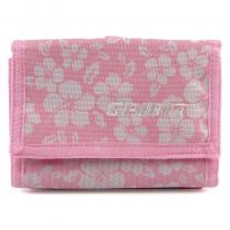 Unisex Floral Wallet Canvas TriFold Change Section by Spirit