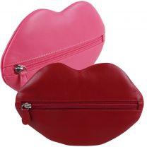 Ladies Quality Hot Lips Leather Clutch Purse by iLi New York