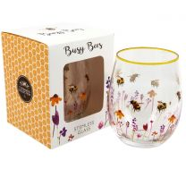 The Leonardo Collection Busy Bees Gin Cocktail Glass Tumbler Stemless