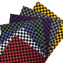 Funky Extra Large XL Checker Bandana Chef  Various Colours Lightweight Cotton