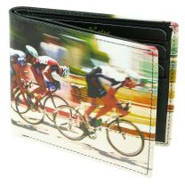 Mens Top Quality Leather Wallet by Retro Cycling Tour De France Gift Boxed