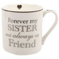 Heart To Home Sister White China Mug Cup L&P