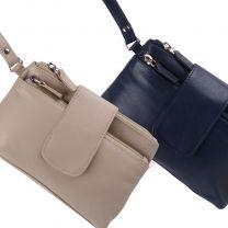 Ladies Stylish Ladies Leather RFID Wrist Purse/Clutch Bag By Golunski Leather