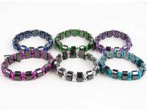 Ladies Girls Hematite Stretchy Bracelet Pretty Colours Buy 2 Get 1 FREE