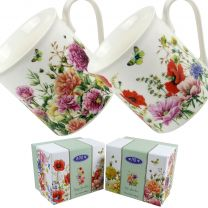 Classic Fine China Mug Poppy or Rose Garden By JBS Garden Collection Kitchen GIFT Boxed