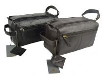 Mens Great Quality Leather Wash Bag by Prime Hide Travel Handy