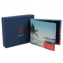 Mala Leather Mens Slim Wallet Retro Camper Van Gift Boxed Kalmin Collection