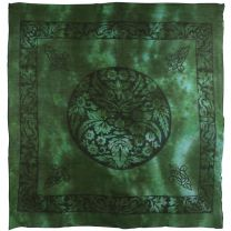 Pickled Moon Green Man Wall Hanging Scarf Harvest Foliage
