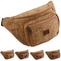 Unisex Cork Waist Bag/Bumbag with Floral Design