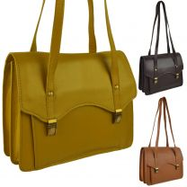 Ladies Leather Twin Handle Structured Shoulder Handbag by Bolla Bags Classic