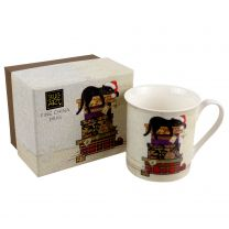 Fine China Mug With Cat on Presents Design by Bug Art Gift Boxed