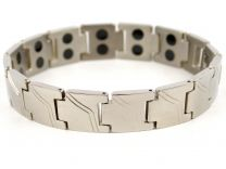 Mens Copper with Chrome Finish Titanium Magnetic Bracelet Health 28 Magnets Therapy