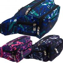 RED X Bum Bag Fanny Pack Waist Pack Laser Design Travel Festivals