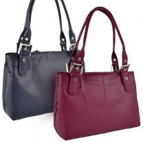 Ladies Soft Leather Classic Shoulder Bag by Blousey Brown Elegant Handbag