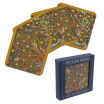 William Morris  Set of 4 Coasters Woodpecker Design Gift Boxed