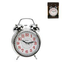 Hometime Chrome Quartz Double Bell Traditional Alarm Clock