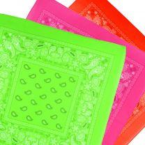 Neon Paisley Bandana Scarf Headwear Mouthcovering