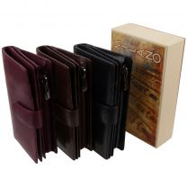 Ladies Tabbed Purse Wallet by Golunski with Gift Box Milano Collection