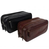 Mens Stylish Top Quality Leather Wash Bag by Visconti; Monza Travel