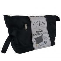 Mens Travel Shaving Grooming Kit Washbag by Danielle Toiletries Black