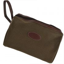 Mens Classic TRAVEL Faux Suede WASHBAG with Carry Handle by Danielle; Berkely Collection Toiletries