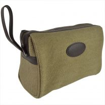 Mens Canvas Classic Travel Washbag with Carry Handle by Danielle; Kensington Collection Toiletries