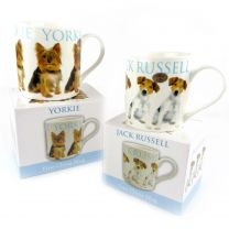 Puppy Fine China MUG CUP Collection Gift Boxed Present Dogs 2 Designs Cute