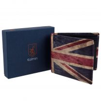 Mala Leather Mens Slim Wallet Union Jack Kalmin Collection