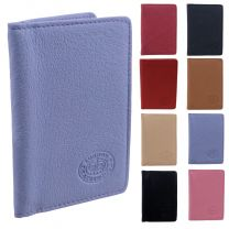 London Leathergoods Unisex Credit Card Wallet Assorted Colours