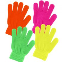KIDS Childs Unisex One Size NEON Magic Gloves Rave 4 Bright Colours Winter