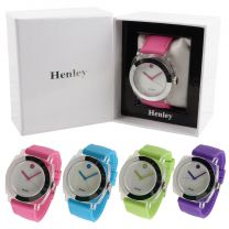 Ladies Henley Fashion Watch Silicone Strap Summer Colours Gift Boxed