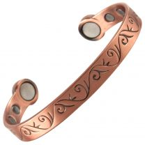 Super Strong MAGNETIC Bracelet/Bangle Copper Scrolls DESIGN 6 Magnets Health Rare Earth NdFeB