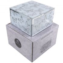 The Leonardo Collection Butterfly Jewellery Square Trinket Box Gift Boxed