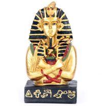 Golden Tutankhamen Holding Crook & Flail Ancient Egypt Egyptian Collectable