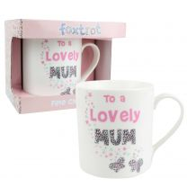 "Fine China ""To a Lovely Mum"" MUG/CUP Foxtrot Collection Floral Mothers Day"