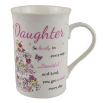 """Fine China Sentiments """"Daughter"""" Mug Cup With Love Collection Birthday"""