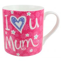 "China ""I Love you Mum"" Mug/Cup Rock Candy Collection Floral Mothers"