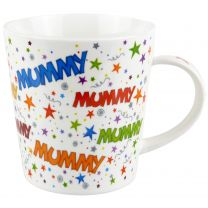 Fine China Mummy Mug/Cup Ritz Collection Stars Colourful Mothers Day Gift