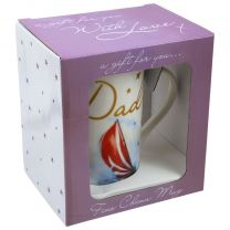 Fine China Mug with Message for Dad Gift Boxed Fathers Day/Birthday