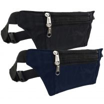 Slim Money/Security Belt Fanny Pack Zips Travel Holiday Passport Currency Thin