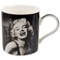 Marilyn Monroe Mug Cup Legend Icon New York Skyline Black and White Gift Boxed