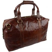 Mens Large Buffalo Leather Holdall Travel Bag by Rowallan of Scotland; Bronco Collection Boston