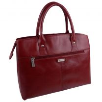 Ladies Italian Vintage Red Leather Grab Bag Handbag by Visconti Tote Strap